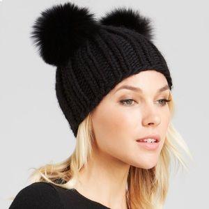 NEW EUGENIAKIM Mimi Real Fox Ear Wool Beanie Hat